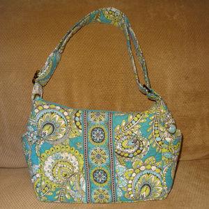 Vera Bradley Peacock Blue-Green Quilted Handbag